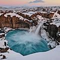 Aldeyjarfoss Waterfall Iceland by Joan Carroll