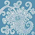 Alien Bloom 24 Trustee Blue by Amy E Fraser