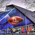 All Dressed Up 2 Mercedes-benz Stadium Atlanta N F L Super Bowl 2019 Art by Reid Callaway