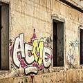 Alley Graffiti And Windows - Romania by Stuart Litoff