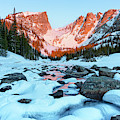 Alpenglow At Dream Lake Rocky Mountain National Park by Nathan Bush