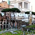 Altare Della Patria From Trajan's Forum In Rome by John Rizzuto