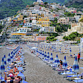 The Colorful Beaches And Village Of Amalfi Italy by Robert Bellomy