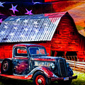 America America God Shed His Grace On Thee Painting by Debra and Dave Vanderlaan