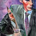 American Psycho Painting by Suzann Sines