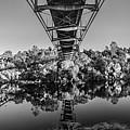American River Panorama - Black And White by Jonathan Hansen