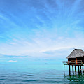 An Exclusive Resort Bungalow Over A Calm Tropical Sea. by Jason Edwards