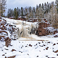 An Icy Gooseberry Lower Falls by Susan Rissi Tregoning