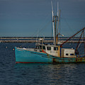 Anchored Fishing Troller  by Susan Candelario