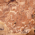 Ancient Rock Carvings At Ofragia Chile by James Brunker