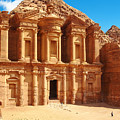 Ancient Temple In Petra, Jordan by Silky