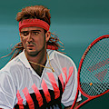 Andre Agassi Painting by Paul Meijering