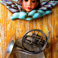 Angel Mask With French Horn by Garry Gay