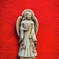 Angel On Red Wall by Garry Gay
