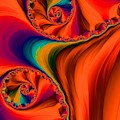 Antelope Canyon Orange Shadows Fractal Abstract by Rose Santuci-Sofranko
