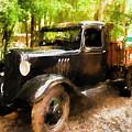 Antique Black Truck by Ola Allen