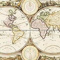 Antique Drawing Of The Globe by Tetra Images
