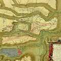 Antique Map Of  Battle Of  Oudenaarde, Belgium  by Steve Estvanik