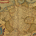 Antique Map Of Germany by Steve Estvanik