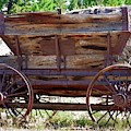 Antique Mining Wagon In Color by Kae Cheatham