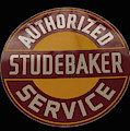 antique Studebaker porcelain sign by Chris Flees