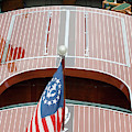 Antique Wooden Boat With Flag 1303 by Rick Veldman