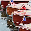 Antique Wooden Boats In A Row Portrait 1301 by Rick Veldman