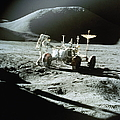 Apollo 15 Astronaut And Lunar Roving by World Perspectives