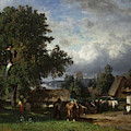 Apple Harvest In Normandy by Constant-Emile Troyon