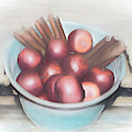 Apples And Cinnamon Sticks by Pamela Walton