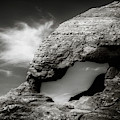 Arch Formation In Black And White by Rikk Flohr