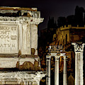 Arch Of Septimius Severuse At Night by Weston Westmoreland