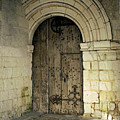 arched door at Fontevraud church by Victor Lord Denovan