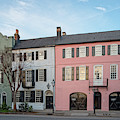 Architectural Photograph Of Rainbow Row On East Bay Street - Charleston South Carolina by Silvio Ligutti