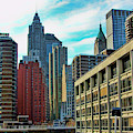 Architecture Nyc From Brooklyn Bridge  by Chuck Kuhn