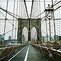 Architecture Of The Brooklyn Bridge In by Michael Marquand