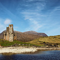 Ardvreck Castle And Loch Assynt by Nicholas Blackwell