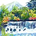 Arenal Volcano Costa Rica  by Carlin Blahnik CarlinArtWatercolor
