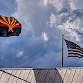 Arizona And Us Flags by Chance Kafka