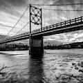 Arkansas Beaver Bridge Over The White River - Monochrome by Gregory Ballos