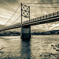 Arkansas Beaver Bridge Over The White River - Sepia by Gregory Ballos