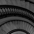 Arlington Stairs Layers Grayscale by Jennifer White