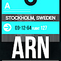 Arn Stockholm Luggage Tag II by Naxart Studio