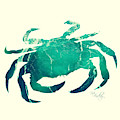 Art Sea Crab In Seagreen by Micki Findlay