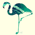 Art Sea Flamingo In Seagreen by Micki Findlay