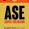 Ase Aspen Luggage Tag I by Naxart Studio