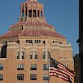 Asheville City Hall With Flag by Joye Ardyn Durham