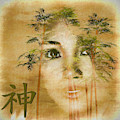 Asian Beauty Loving God - Painting by Ericamaxine Price