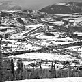 Aspen Airport In The Rockies Black And White by Adam Jewell