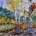 Aspen Bears At Emmigrant Gap by Joan Chlarson